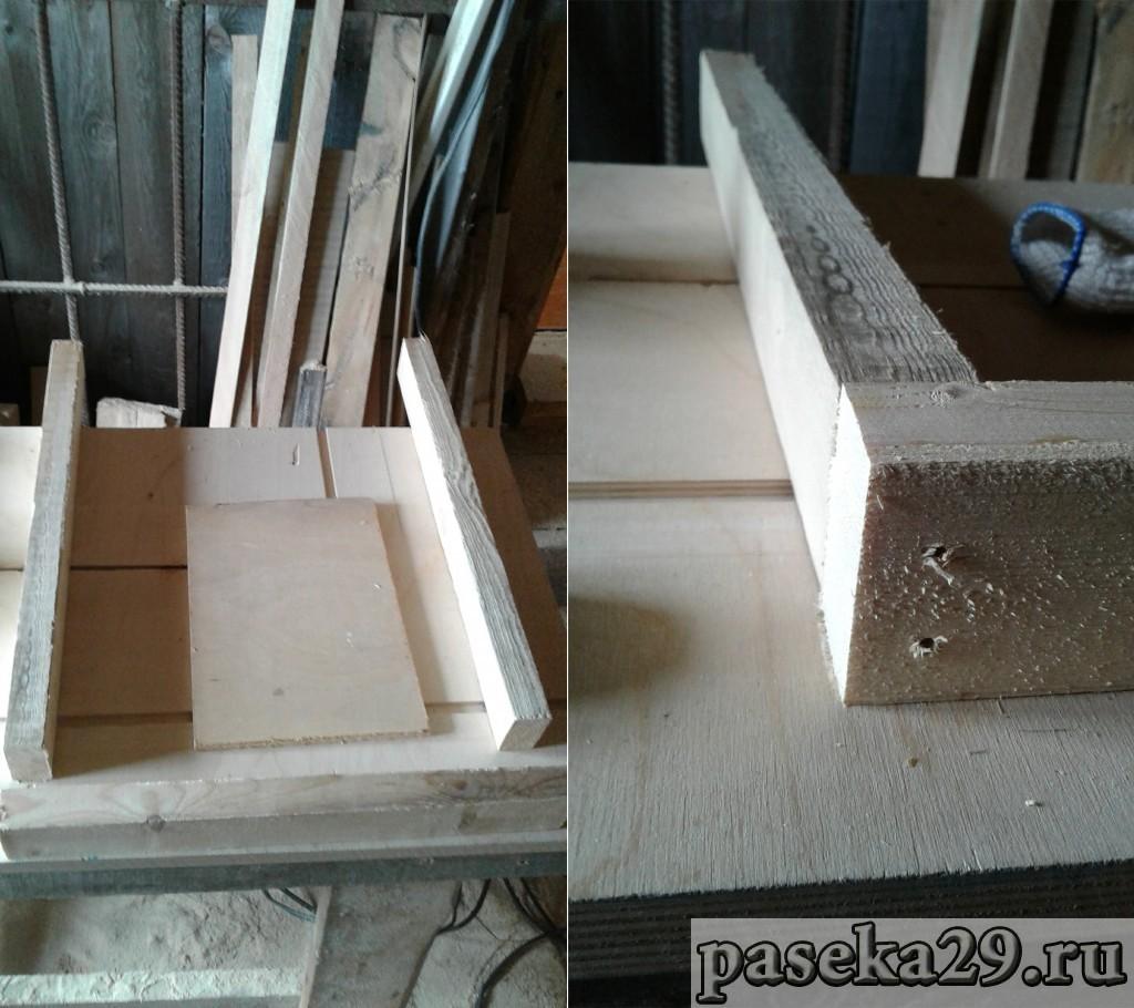 Кладу заготовки на ровную поверхность и сверлю направляющие отверстия